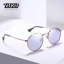 20/20 브랜드 새로운 Unisex 선글라스 남자 편광 된 렌즈 빈티지 라운드 금속 안경 액세서리 태양 안경 17018 1
