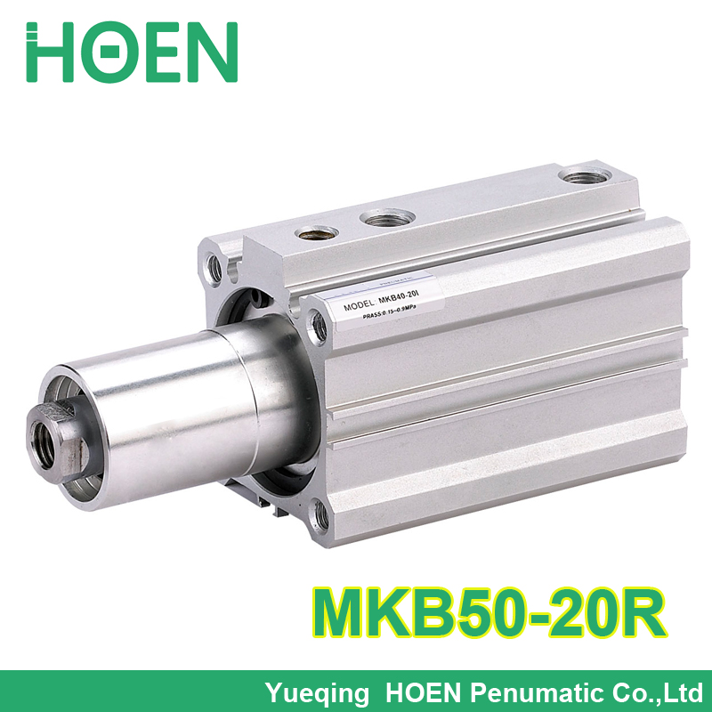 MKB50-20R high quality SMC Type MKB50*20R Rotary Clamp Air Pneumatic Cylinder MKB Series high quality double acting pneumatic gripper mhy2 25d smc type 180 degree angular style air cylinder aluminium clamps