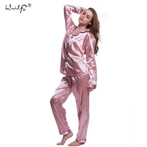 hzoioys Pajamas sets Women Sexy Pyjamas Silk Sleepwear 046c00530