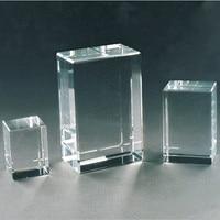 Top Quality 50pcs/100pcs Blank Crystal K9 Crystal for 3d Laser Engraved or Sandblasting Art