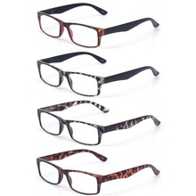 c078503ab6761 Óculos de leitura 4 Par Grande Valor Qualidade Leitores de Conforto Para  Homens Óculos para Presbiopia Óculos de Leitura de Plás..