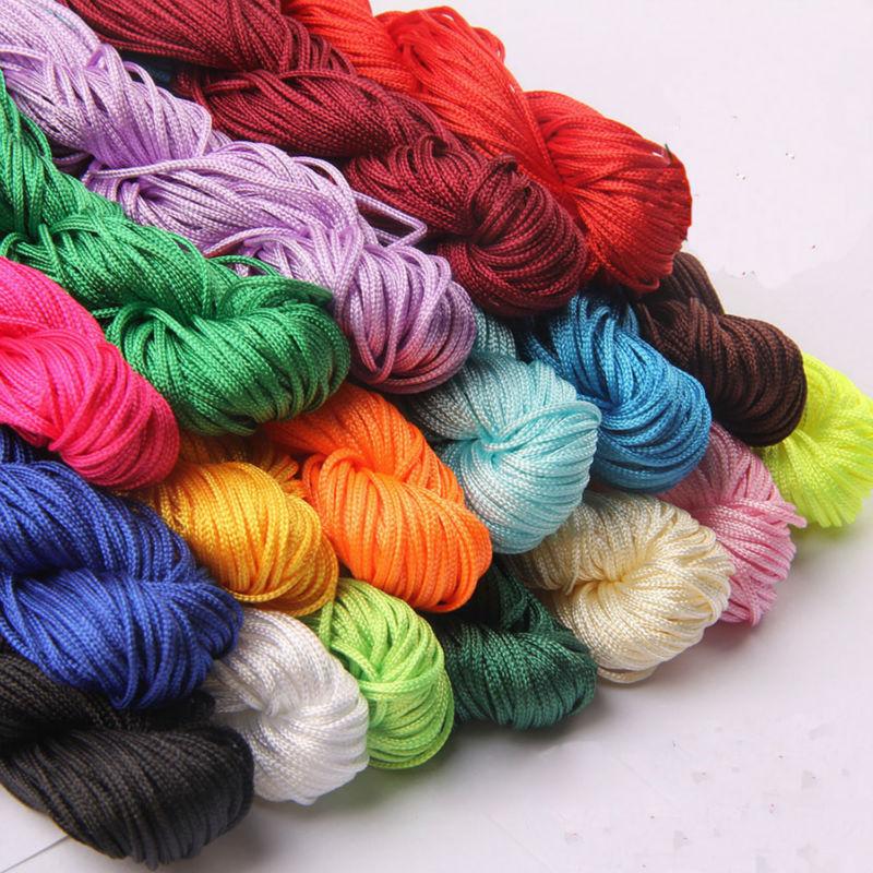 unidslote m nylon nudo trenzado hilo de bricolaje material de cuerda hecha