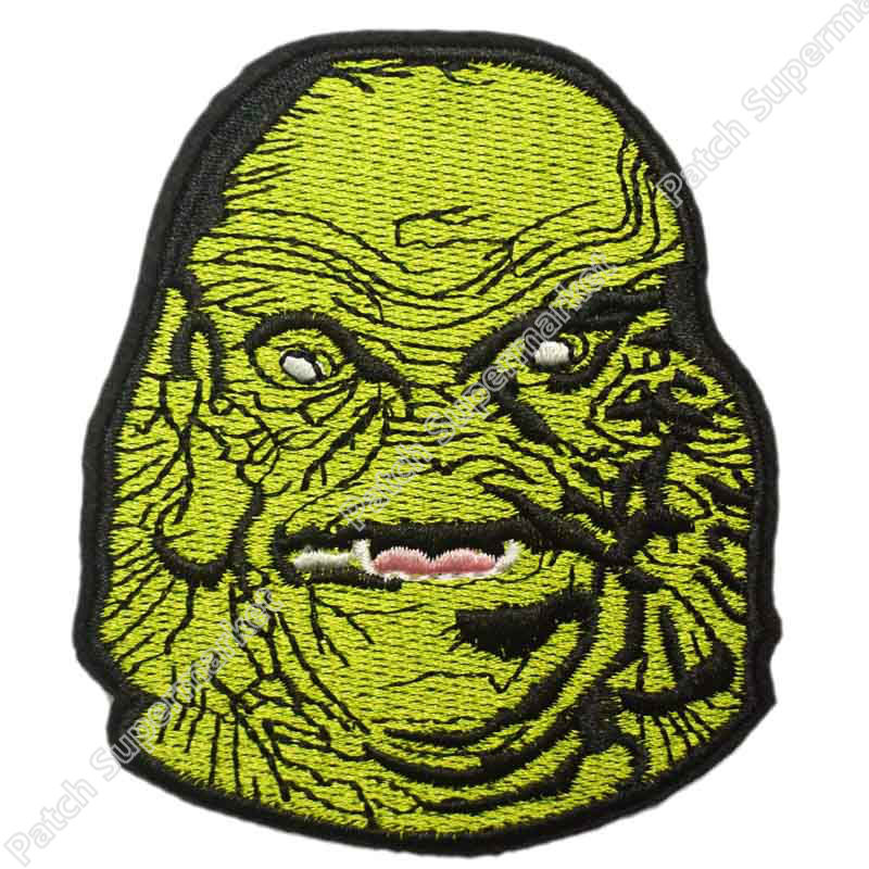 4 GREEN CREATURE CULT CLASSIC MONSTER MOVIE TV HORROR FILM BADGE MORALE MILITARY IRON ON PATCH