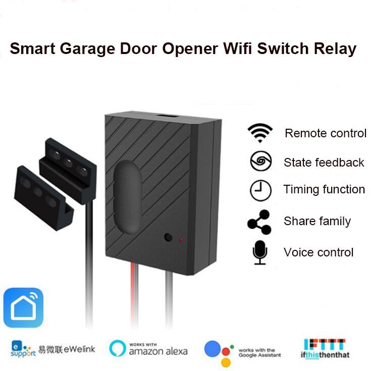 La télécommande sans fil intelligente de relais de commutateur d'ouvre-porte de Garage de Wifi fonctionne avec la maison d'alexa Google