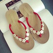 ccf12ae418b928 Bailehou Women Shoes Slippers Flower Fashion Designer Beach Flip Flops  Ladies 2017 Summer Outside Sandals Mujer Flats Slides