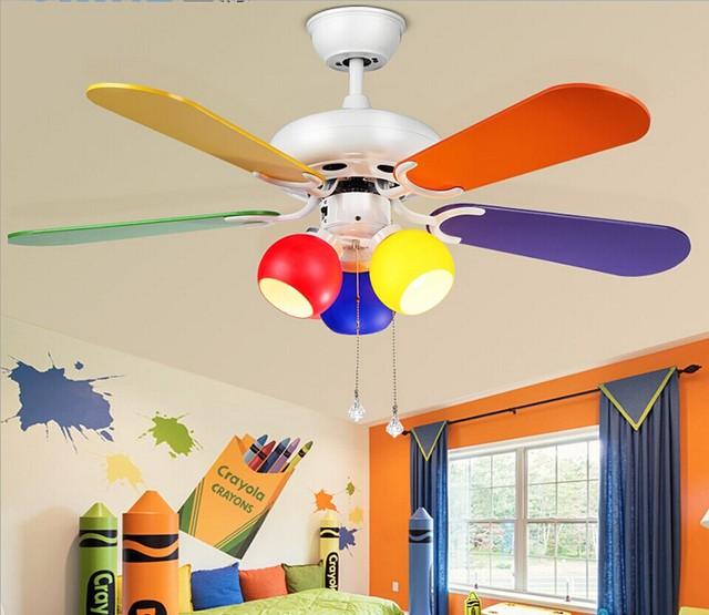 Moda Americana loft LED ventilador de techo luz LED ventilador luz ...
