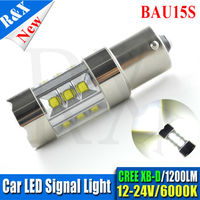 1pcs S25 PY21W 1156 BAU15S 100W 20 PCS LED High Power CREEXB D Vehicles Car Turn
