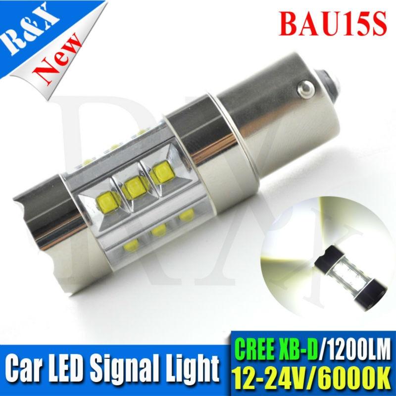 1pcs S25 PY21W 1156PY BAU15S 100W 20SMD LED High Power CRE XB-D Vehicles Car Turn Signal Tail Brake Lights White AC12V-24V