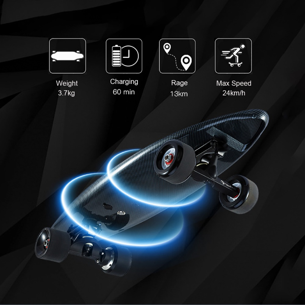 Image 4 - Maxfind electric skateboard four colors hub motor 3.7kg Lightweight 20KM/h 4 Wheel  Scooter Plate Skate Board-in Skate Board from Sports & Entertainment