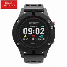 Smarcent F5 GPS Heart Rate Monitor IP67 Waterproof Color Display Pedometer Sport Smartwatch PK K88H KW18