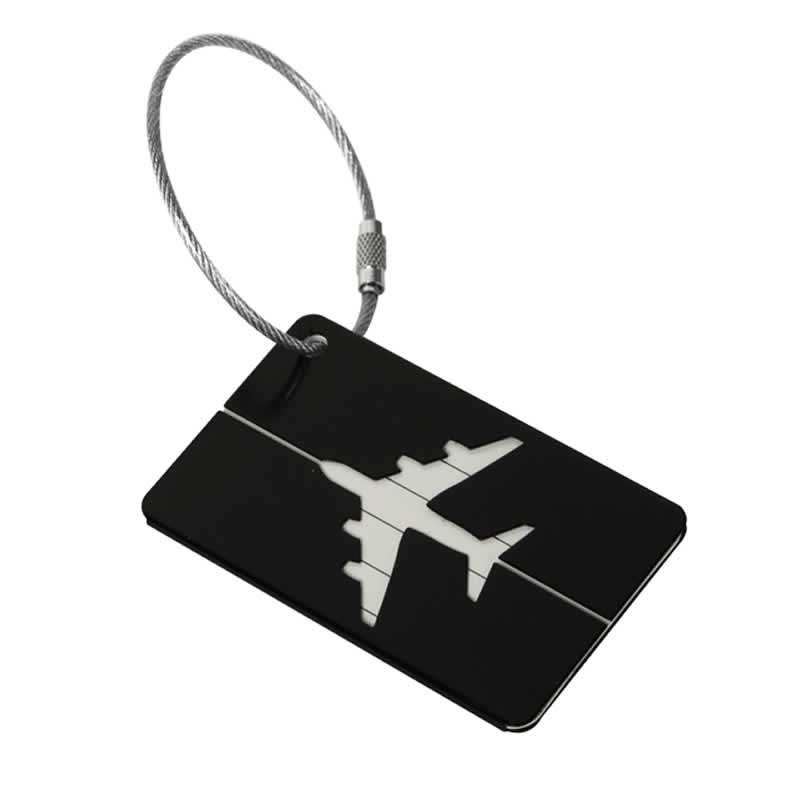 Travel Accessories Luggage Tag Cover Fashion Metallic Aircraft Suitcase ID Address Holder Baggage Boarding Tags Portable Label