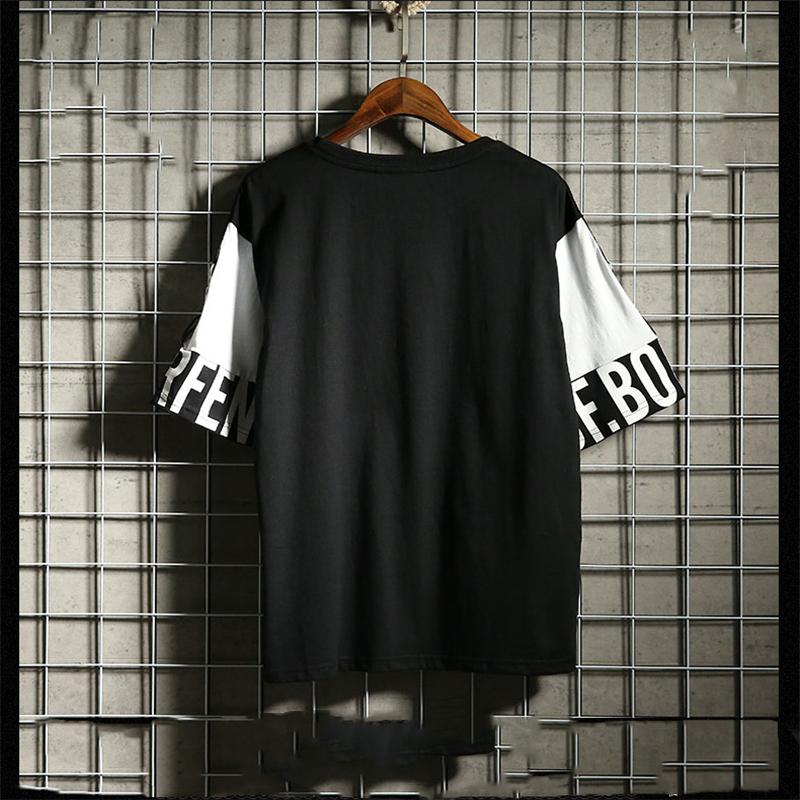 Hip Hop T Shirt Harajuku Streetwear Man's T-shirt Korean Half Anime Shirt Teen Clothes Black Shirt Free gift 13