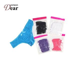 Image 5 - Comeondear 5ชิ้น/ล็อตกางเกงผู้หญิงM 6XLขนาดบวกเซ็กซี่ลูกไม้ชุดชั้นในเปิดเป้าดูแม้ว่ากางเกงไม้ไผ่ผู้หญิงPA5008