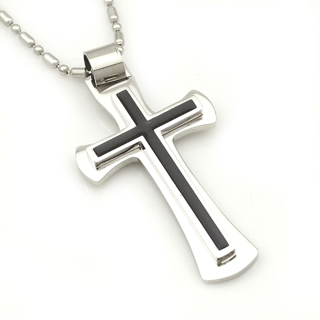 GOKADIMA Christmas Gift, Free Shipping, 316l Stainless Steel Cross Necklace for men women, Fashion Jewelry, Wholesale WP316