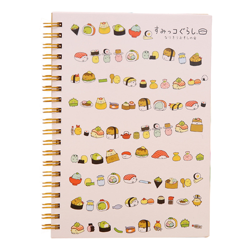 100% True Kawaii Japan Cartoon Rilakkuma & Sumikkogurashi Coil Notebook/diary Agenda/pocket Book/office School Supplies Sushi Top Watermelons Notebooks & Writing Pads Notebooks