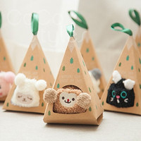 Cocostyles ins popular super cute animal children's socks packaging box baby favors shower gift set for newborn baby