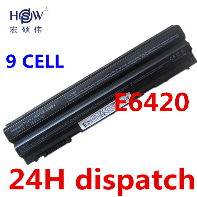 HSW 9cell New laptop battery For DeLL for Latitude E5420 E5430 E5520 E5530 E6120 E6420 E6430 E6520 E6530 Vostro 3460 3560 jigu laptop battery for dell 8858x 8p3yx 911md vostro 3460 3560 latitude e6120 e6420 e6520 4400mah