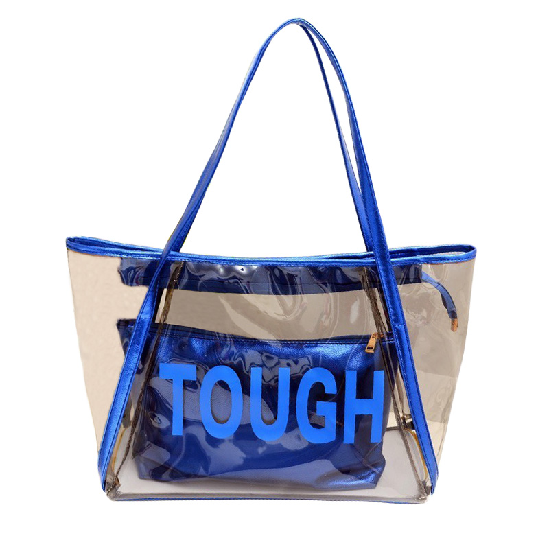 Fashion Beach Jelly Crystal Style Totes Transparent Leisure Bag Summer Handbags Girls Travel Shoulder Bag PopularFashion Beach Jelly Crystal Style Totes Transparent Leisure Bag Summer Handbags Girls Travel Shoulder Bag Popular