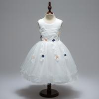 Niños Vestidos para Niñas blanco rosa princesa Vestidos para bebé Niñas desgaste formal vestido de boda niño tul vestido niños ropa