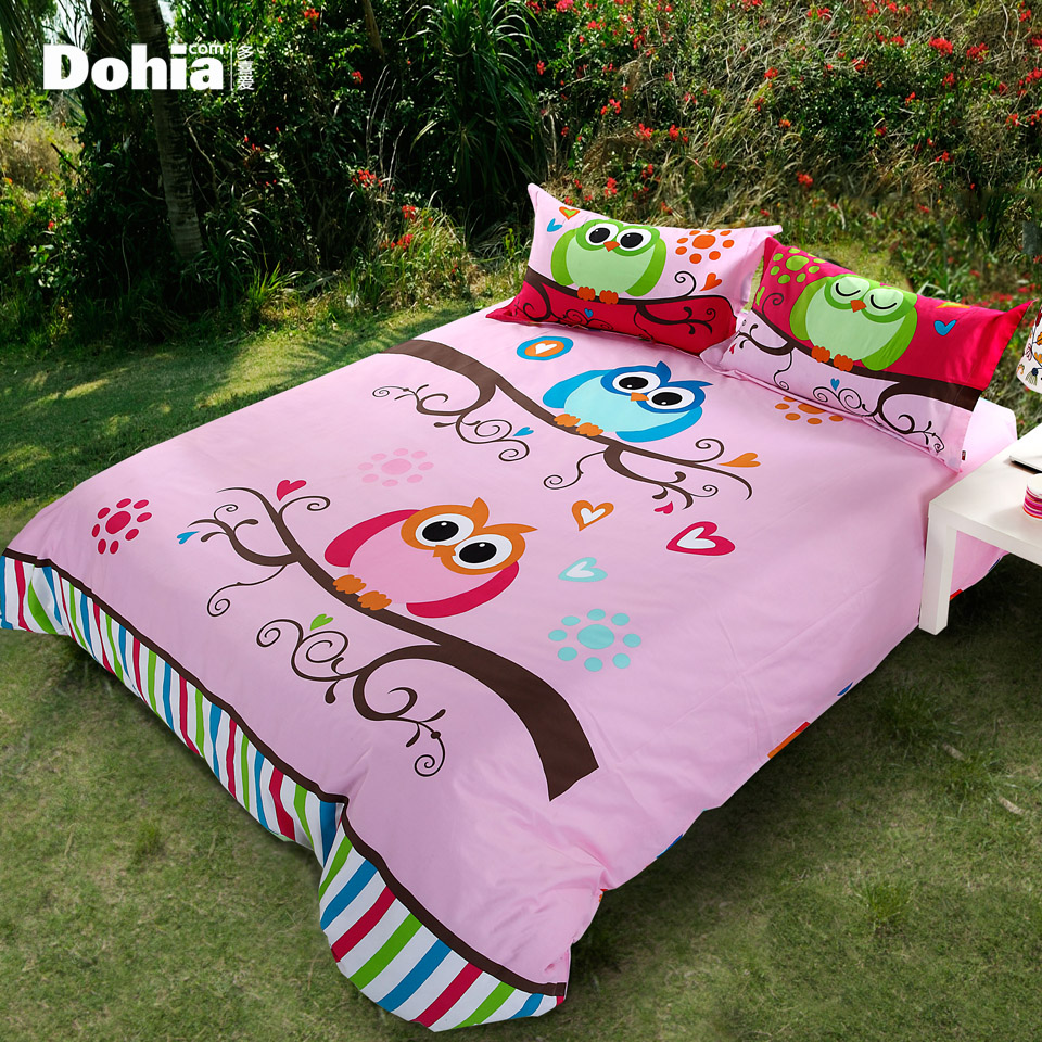 S Amp V Modern Owl Bedding Sets Cartoon Bedclothes Bed Linen