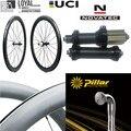 Kohlenstoff Gerade Pull Hub 700C Carbon Rad Tubeless Klammer Tubular 30mm 38mm 47mm 50mm 60mm 88mm Rennrad Laufradsatz Fahrrad-Rad Sport und Unterhaltung -