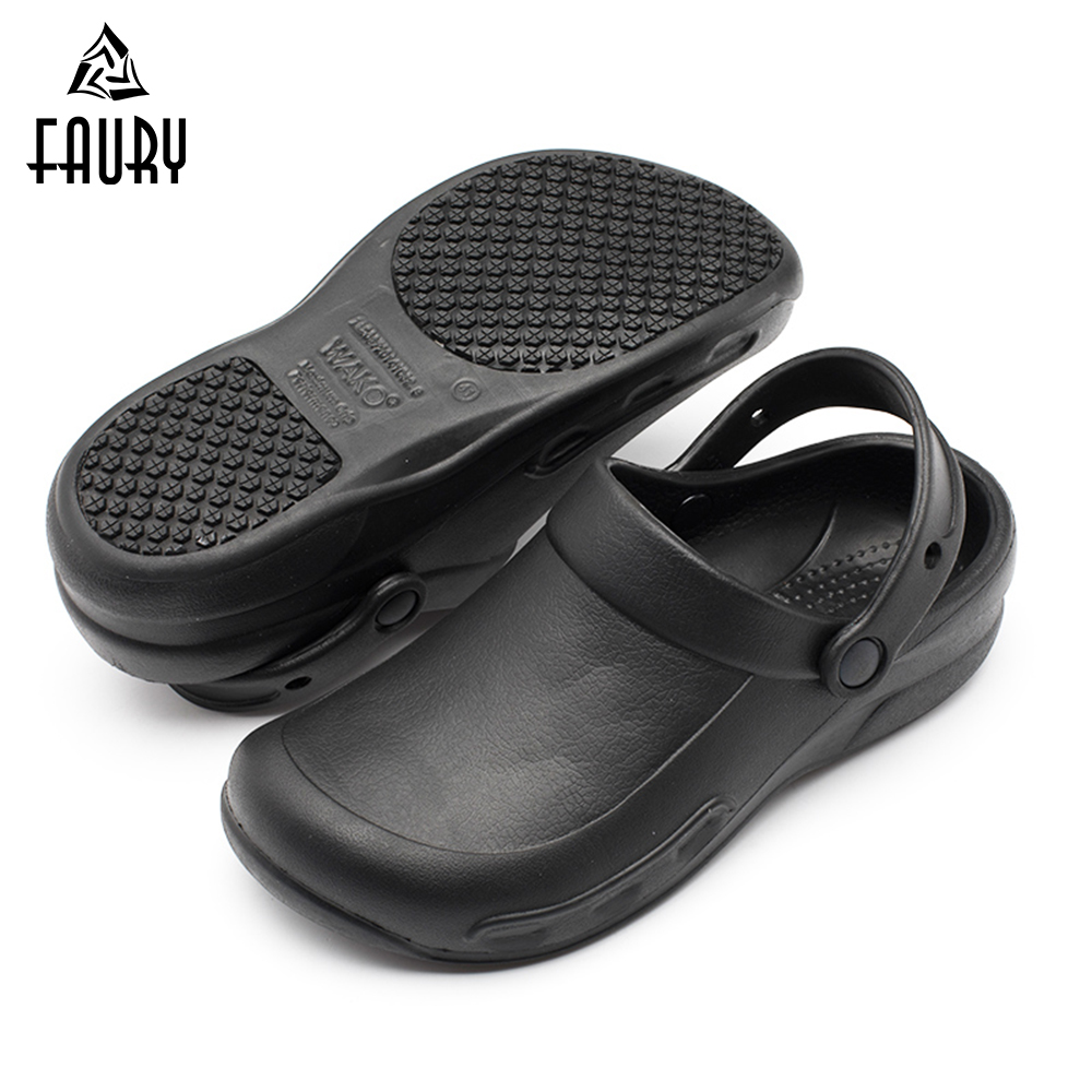Professional Chef Kitchen Shoes Hotel Restaurant Canteen Work Shoes Super Anti-slip Waterproof Oilproof Men Male Cook Shoes