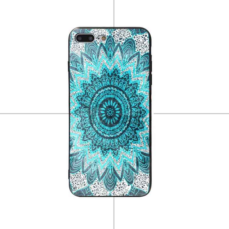Yinuoda mandala ronde paars Zwart Soft Cover case Voor iPhone 5 5 s SE 6 6 plus 7 7 Plus 8 8 plus X XS XR XSMax