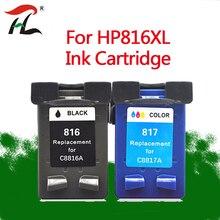купить For HP816XL HP817XL Compatible ink cartridge 816XL for HP817XL DeskJet 5168 PSC 1118 1218 318 1406 1408 816 817 printer по цене 999.76 рублей