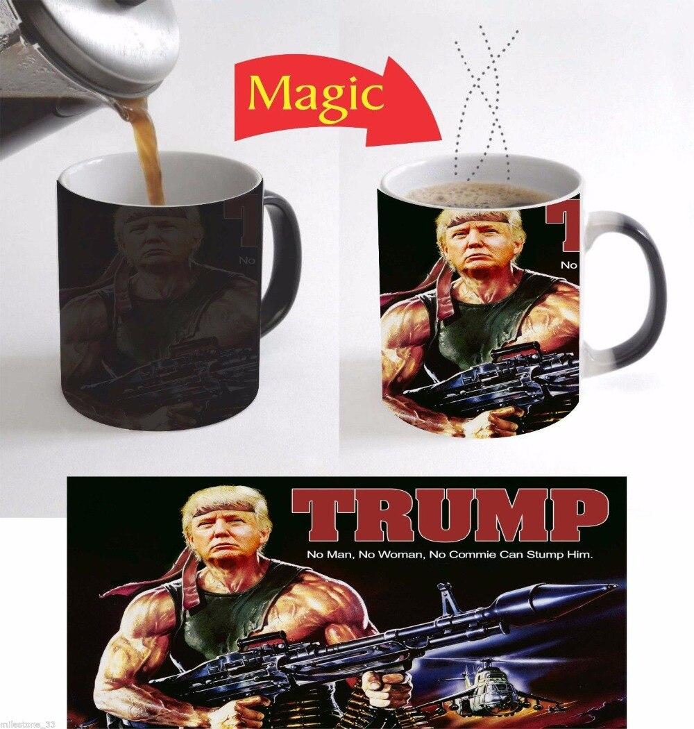 Donald Trump mugs coffee mug heat changing color cold Hot sensitive heat transfer Ceramic Tea art porcelain mugen mugs