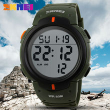 SKMEI Outdoor Sports Watches Men Running Big Dial Led Digital Wristwatches Chron