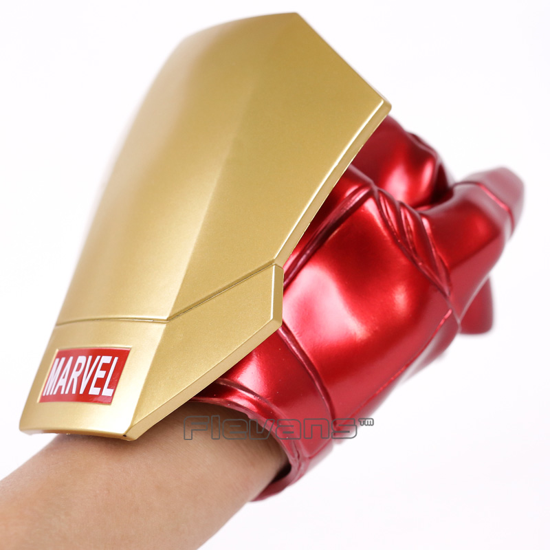 Iron Man Gloves with LED Light PVC Action Figure Collectible Model Toy Brinquedos цена
