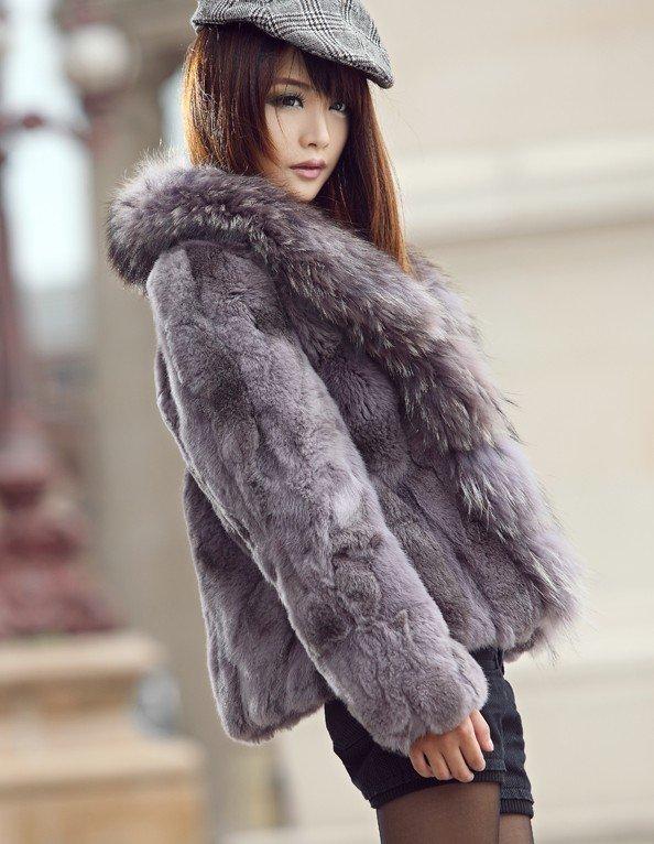 seductive girl in fur