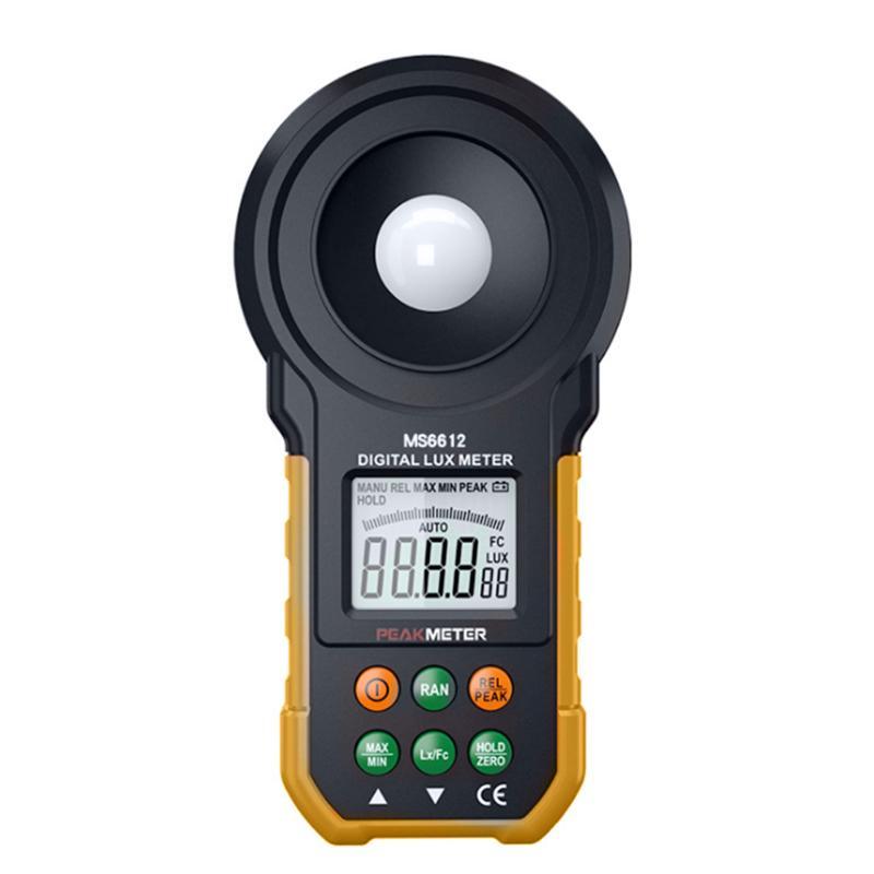 PM6612L Digital Luxmeter Light Meter Lux / FC Meter High Precision Digital Luxmeter Illuminometer Photometer 200,000 LuxPM6612L Digital Luxmeter Light Meter Lux / FC Meter High Precision Digital Luxmeter Illuminometer Photometer 200,000 Lux
