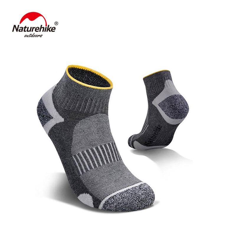 Naturehike 5 Pairs Sports Socks Male Female Breathable Cotton Socks Spring Summer Cycling Socks Fitness Running Socks NH19W005 Z in Running Socks from Sports Entertainment