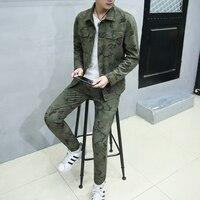 Primavera camuflagem calças jaqueta define purificada algodão comouflage tático Militar do exército paintball uniforme camisa e calças jaqueta