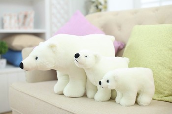 7.8 Inch Plush Polar Bear Sweet Cute Lovely Stuffed Baby Kids Toys for Girls Birthday Christmas Gift Cute Girl 20cm Baby Doll 6