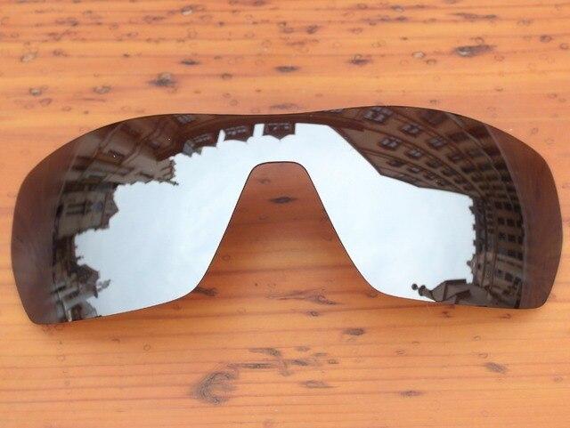 Cromo Espejo De Plata Marco de Gafas de sol Polarizadas Lentes De ...