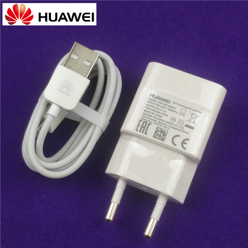 Original EU Huawei y3 charger 5V/1A power adaptor charge micro usb cable for hon