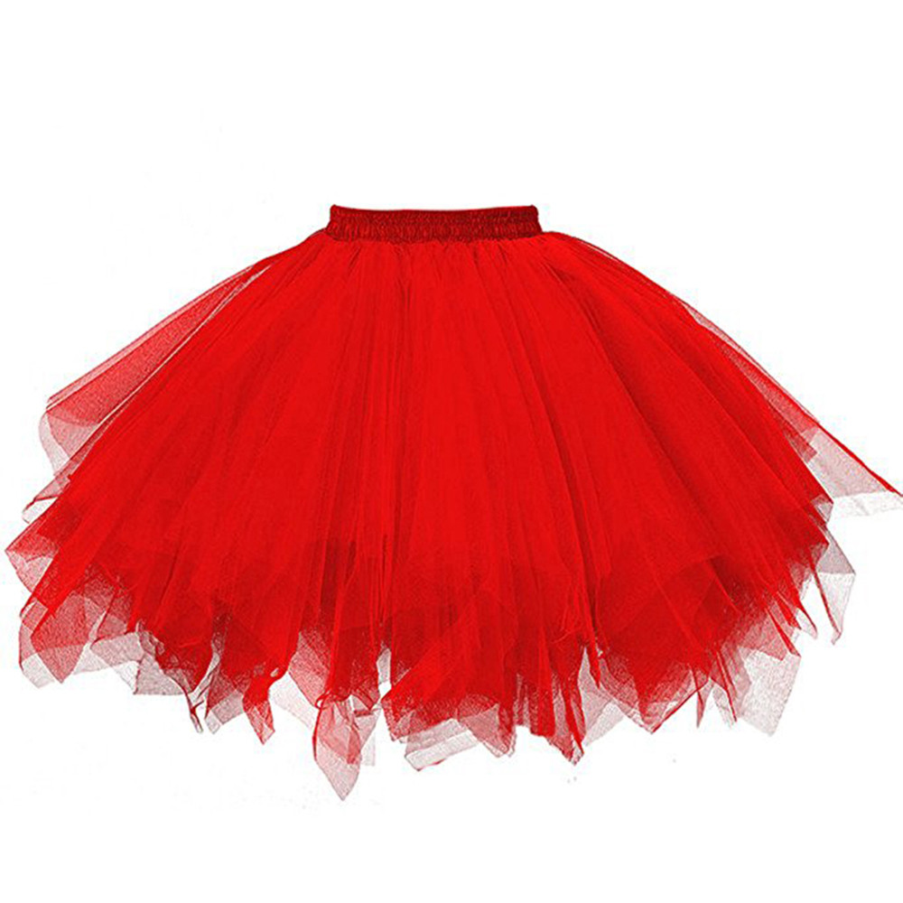 Women Adult Dancewear Tutu Pettiskirt Princess Party Skirts Mini Dance Summer Short Skirts Space Candy-colored Tutu Skirts Women