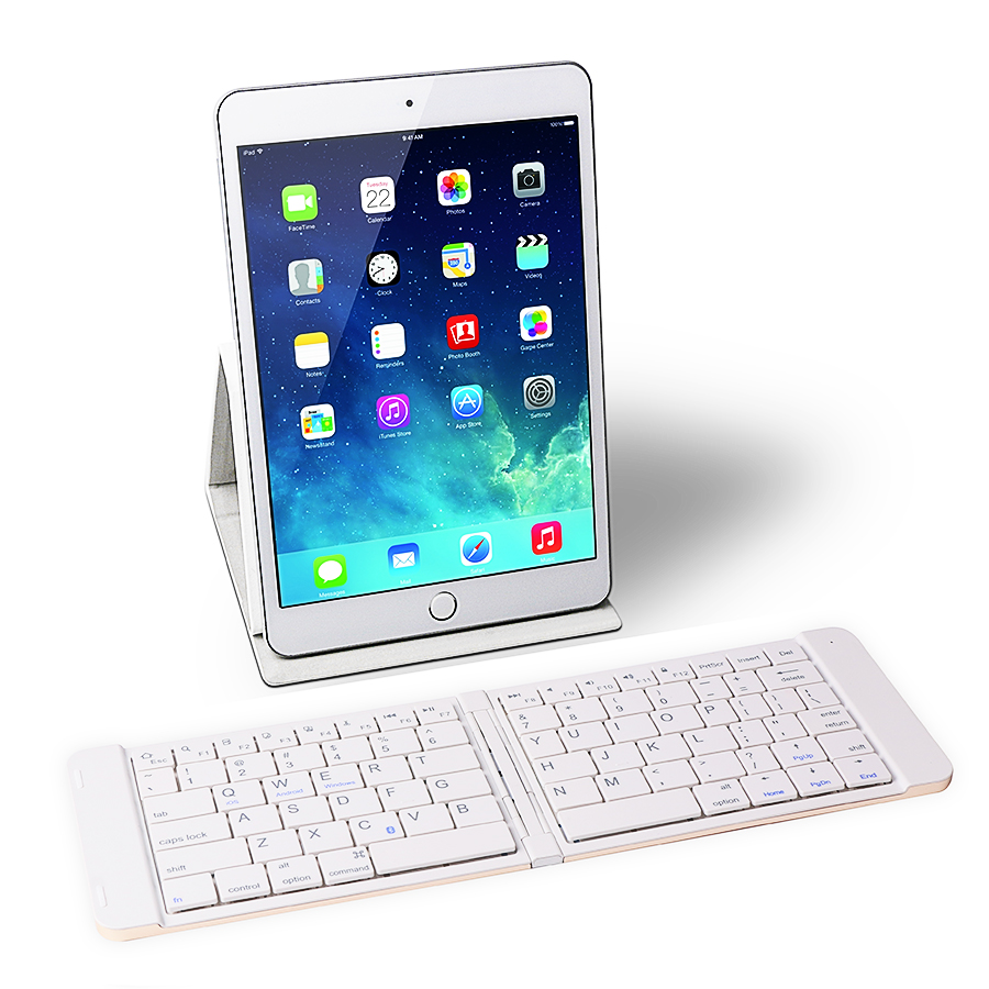 iDOCOU Folding Wireless Bluetooth Keyboard with 80keys for iPad iPhone Android font b Smartphones b font
