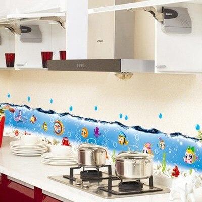 Sea World Fish Bubble Home Decorative Wall Stickers Bathroom Pvc Wall Decals  Kids Nursery Baby Room Decor