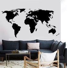 Large World Map Wall Decal Office Classroom Decoration Vinyl Wall Sticker Home Living Room Room Wall Sticker DT16