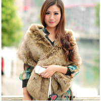 Free shipping Scarves & Wraps Add long imitation fox collars fur scarf imitation female raccoon fur hats shawls winter