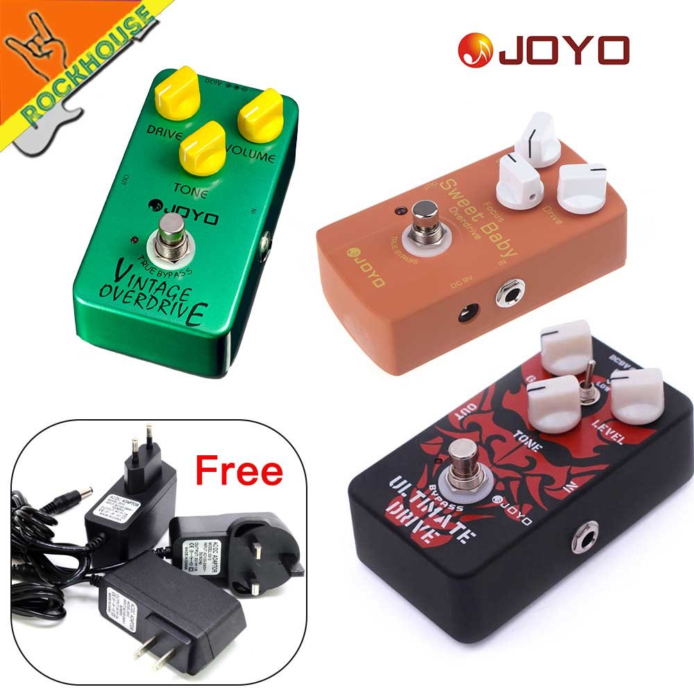 JOYO High-gain Overdrive Pedal Guitar Effects Pedal high-power Drive Booster Tube overload Stompbox True Bypass free shipping