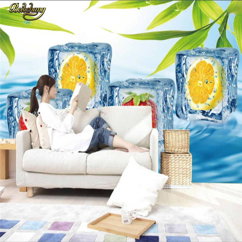 Beibehang Custom Photo Wallpaper Mural Wall Stick Fruit Ice Cream Cool Summer Background Papel De Parede In Wallpapers From Home Improvement On
