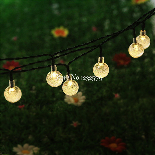 Zonne energie Led Outdoor Lichtslingers 5 M 20 LEDs Crystal Ball ...