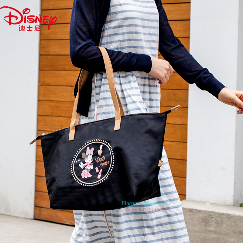 Nappy Changing Genuine Disney Red Pvc Mickey Multi-function Women Bag Cosmetic Wallet Purse Bag Fashion Mummy Handheld For Girls Gifts 100% Original Diaper Bags