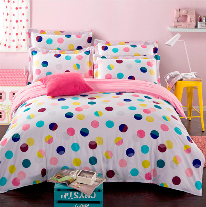 Colorful Polka Dot Bedding Set For Queen Full Size Duvet