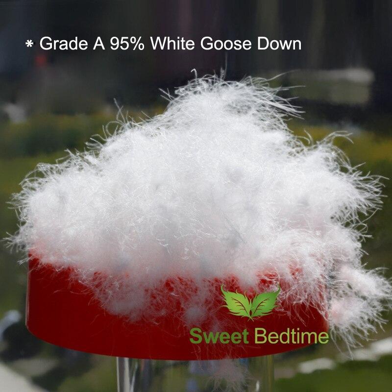 En vrac 95 duvet d'oie blanche/charge de semi-finis vers le bas veste manteau oreiller couette coussin canapé matelas pad meilleur remplissage 850 + + vers le bas