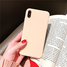 Solid color mobile phone case cover TPU material for Apple X 8plus, protect anti-dro